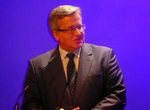 Photo: Przemówienie powitalne Prezydenta RP Bronisława Komorowskiego, w którym nawiązał do tradycyjnej fascynacji Krajem Kwitnącej Wiśni w Polsce