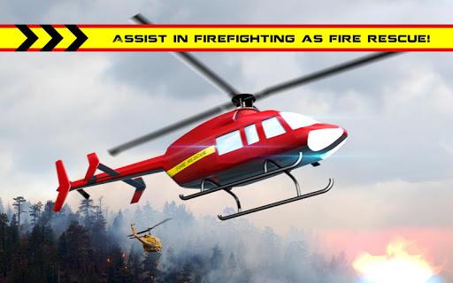 直升機救援消防員