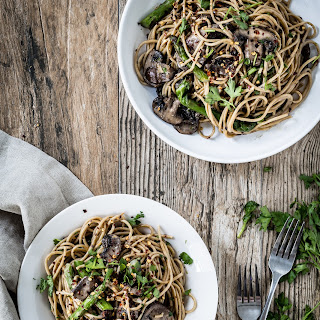 Mushroom And Asparagus Marsala Pasta.