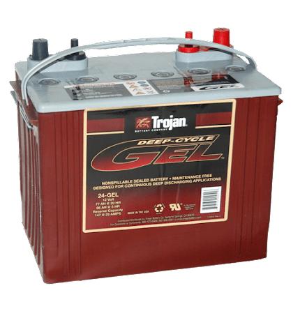 Trojan 24-GEL 12V 77Ah LxBxH:276x171x236mm inkl.po