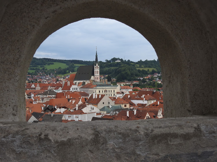 A view over Český Krumlov, a pocket-sized Prague two hours to the south of the capital. Picture: LESLEY STONES