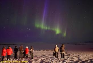 Photo: Watching the aurora borealis near Reyjkavik, Iceland