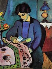 "Photo: August Macke, ""La moglie in lettura"" (1912)"