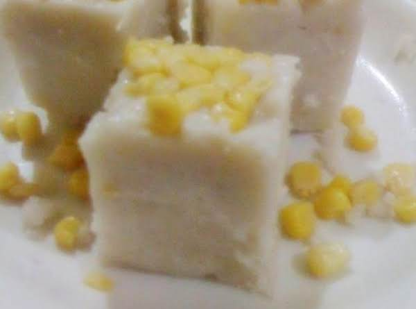 Maja Blanca With Sweet Corn