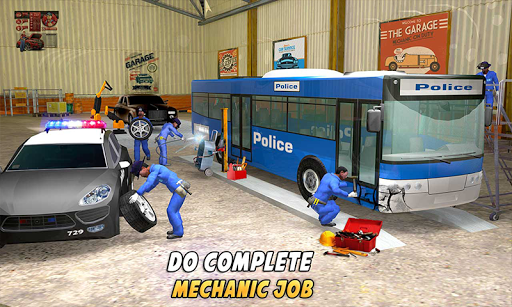 Police Car Wash Service: Gas Station Parking Games 1.2 screenshots 4