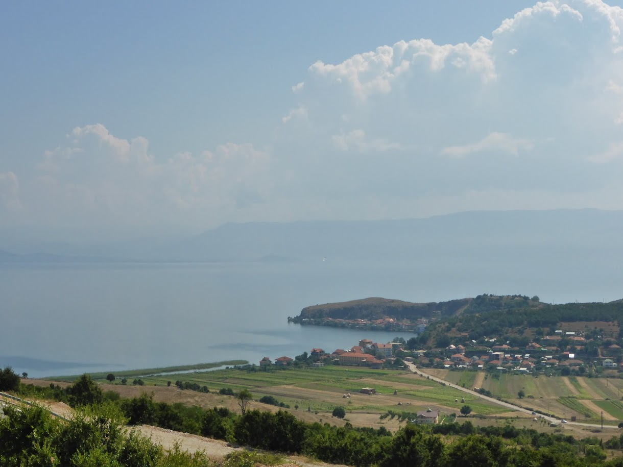 Pogradac with the view of Lake Ohrid, Albania