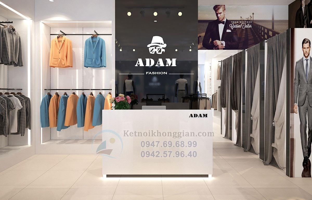 thiết kế shop thời trang nam bắt mắt, sang chảnh