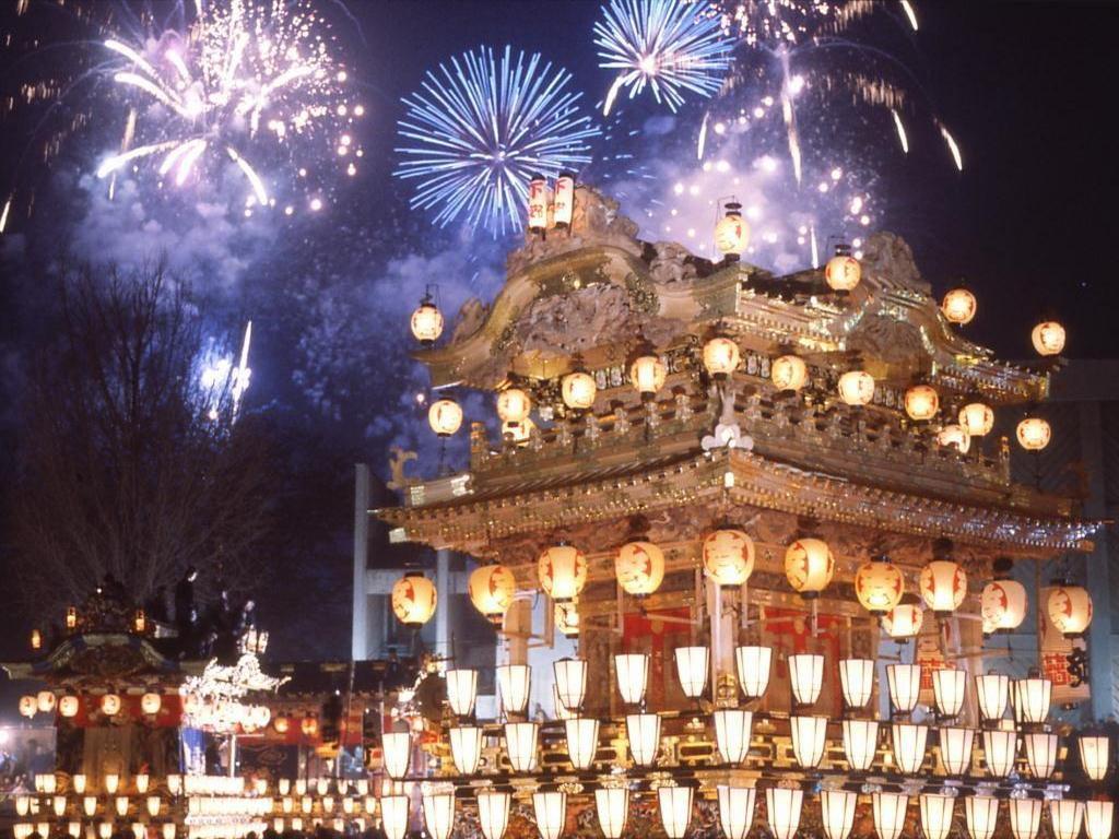 Салют на Новый год в Китае