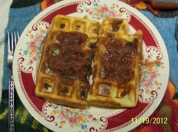 Belgin Waffles W/ Dana's Homemade Apple Butter Recipe