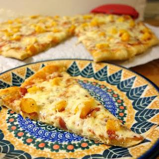 Butternut Squash and Prosciutto Pizza.