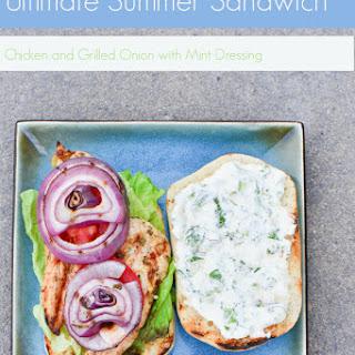 Chicken Sandwich with Mint Dressing.