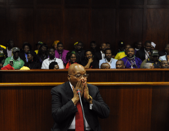 Former president Jacob Zuma appeared in the Durban High Court