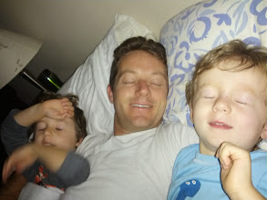 Photo: Daddy and The Boys (We all blinked!)