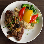10oz Loaded NY Steak Dinner - Mashed Veg Onion Mushroom