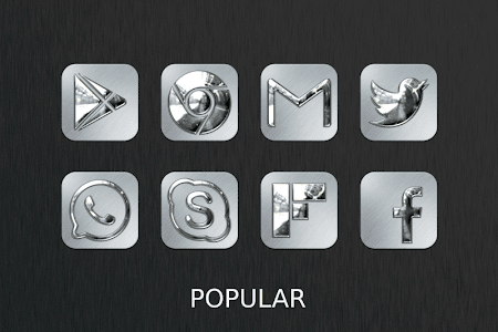 Silver Chrome Icon Pack v2.1.0