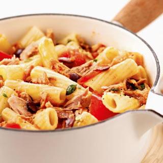 Spicy Tuna, Tomato and Olive Pasta Recipe