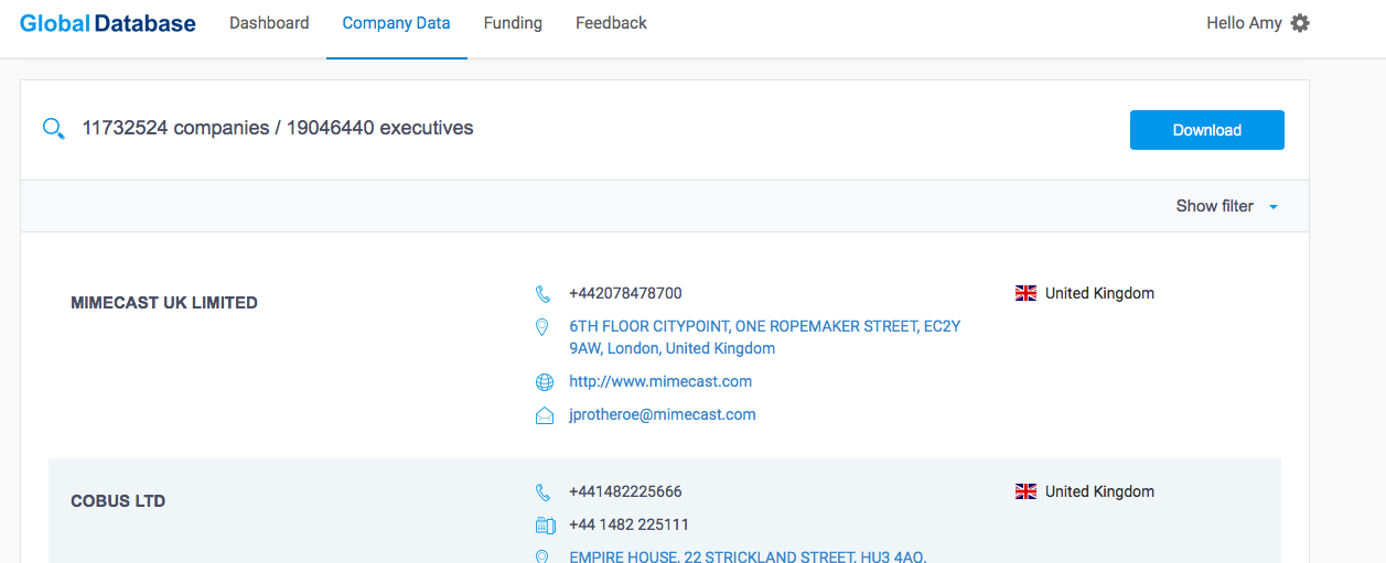 Companies House vs Global Database: How do They Compare for B2B Data?