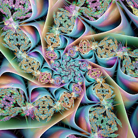Complex Spiral 2 by Peggi Wolfe - Illustration Abstract & Patterns ( abstract, wolfepaw, complex, jwildfire, gift, unique, bright, illustration, spiral, fun, digital, print, décor, pattern, color, unusual, fractal, rainbow )