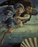 Botticelli, Geburt der Venus, Windgoetter - Botticelli, Birth of Venus, Wind gods - Botticelli / Naissance Venus / Zephir...