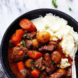 Slow Cooker Beef Bourguignon #Recipe
