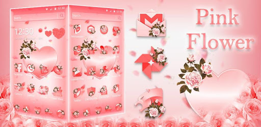 Pink Flower Love Heart Theme Google Play