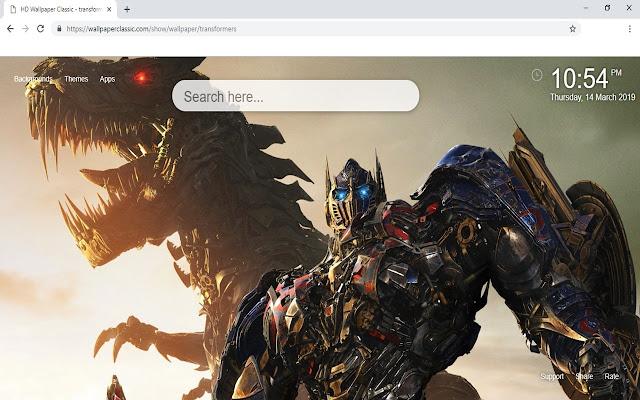 Transformers Wallpaper HD New Tab Themes