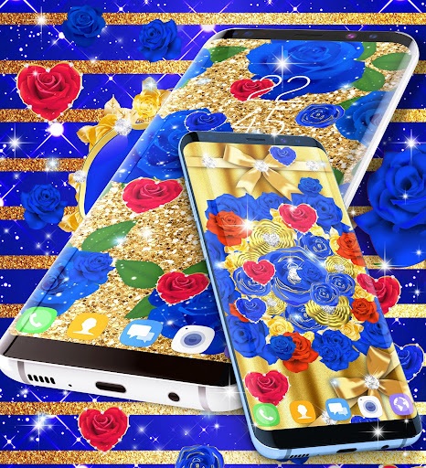 Blue golden rose live wallpaper 8.1.1 screenshots 15
