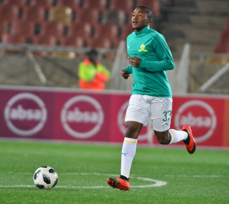 Lebohang Maboe of Mamelodi Sundowns warms up ahead of a Absa Premiership away match against Polokwane City at Peter Mokaba Stadium on August 07, 2018 in Polokwane, South Africa.