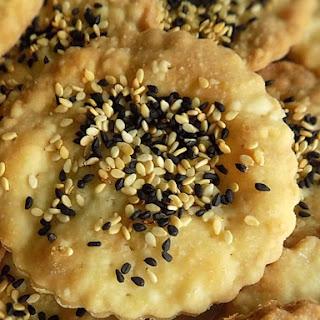 Nigella& Sesame Seed Olive Oil Crackers.