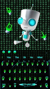 Hologram Neon Matrix Téma - náhled