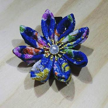 藍色劍菊髮夾