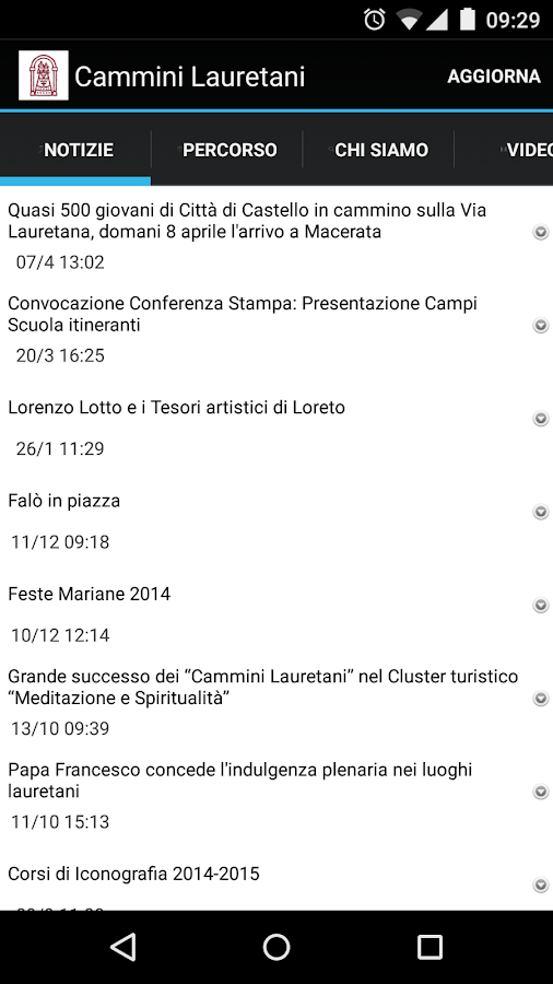 Cammini Lauretani- screenshot