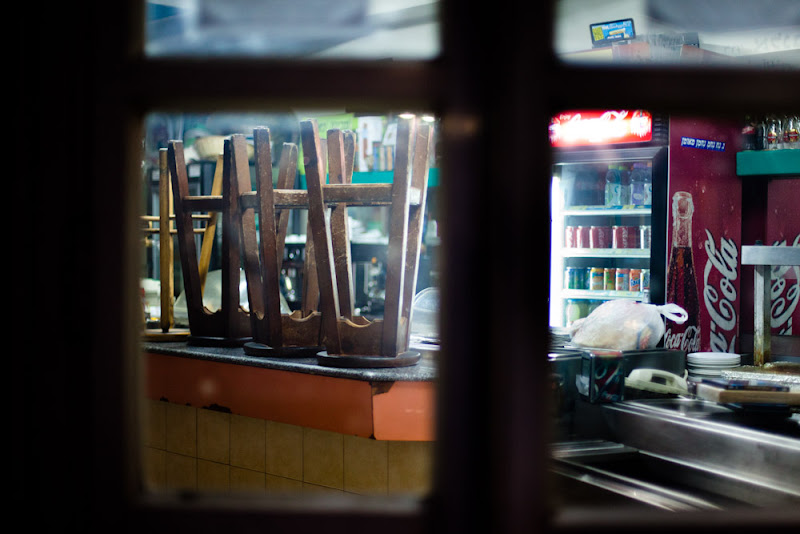 Photo: night TelAviv, closed places. Tomorrow there will again be crowded and noisy.
