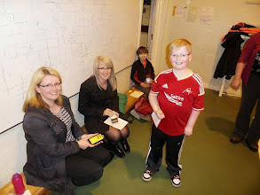 Photo: The mums got involved doing downloads.... and then had a race themselves. Bring your traners next time ladies.