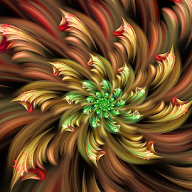 Flower 57 by Cassy 67 - Illustration Abstract & Patterns ( digital, love, harmony, abstract art, abstract, creative, fractals, digital art, modern, light, fractal, style, energy, fashion )
