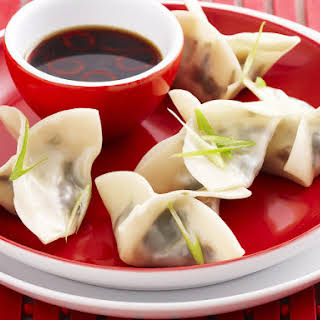 Steamed Spinach and Shiitake Dumplings.