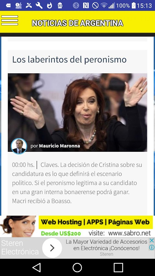 Noticias de Argentina APP- screenshot