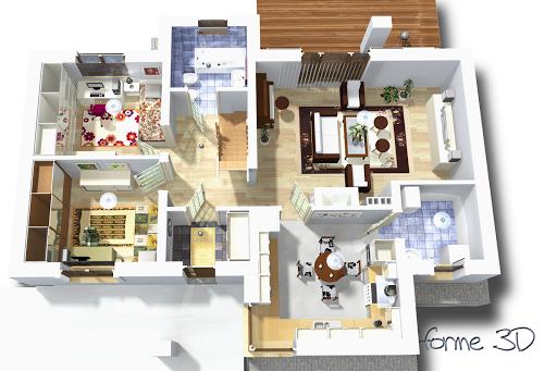 Kasjopea bez garażu B - Rzut parteru 3D