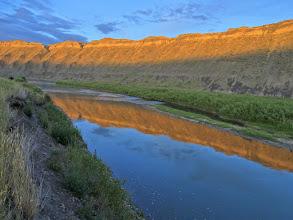 Photo: Missouri River channel at Fort Benton