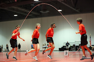 Photo: Ethan, Charlotte, Maya, Dane  Double Dutch Pairs Freestyle  6th place 15-17 age division