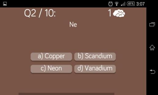 Periodic table quiz izinhlelo ze android ku google play periodic table quiz isithombe esincane sesithombe skrini urtaz Gallery