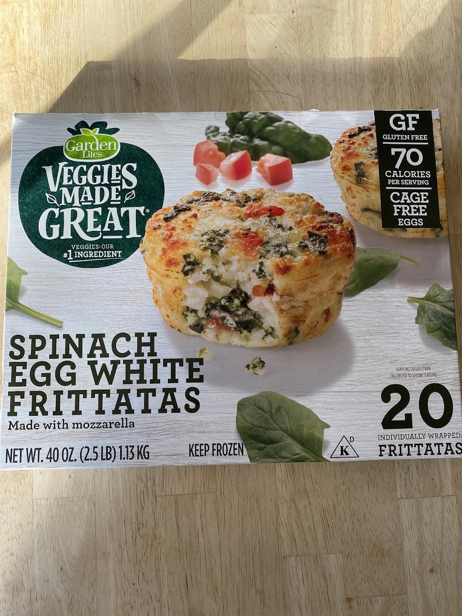 Spinach Egg White Frittatas