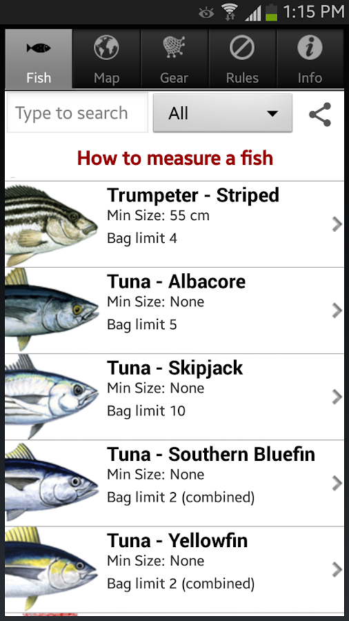 Tasmanian Sea Fishing Guide- screenshot