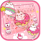 Tải Bowknot Kitty Keyboard Theme APK