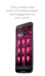 MCI Group Event Portal - náhled