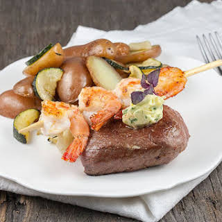Surf And Turf With Herb Butter.