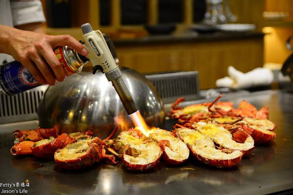 鐵板燒推薦,無菜單料理,黃金龍蝦、南非活鮑魚、北海道干貝、鵝肝高級食材通通來報到。Fatty's(崇德店)
