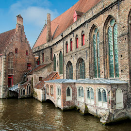 Church Wall Brugge Belgium by Keith Reling - Buildings & Architecture Public & Historical ( brugge, belgium )