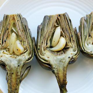 Roasted Lemon-Garlic Artichokes.