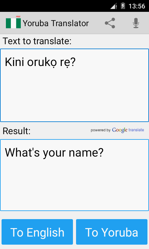 Yoruba English Translator- screenshot